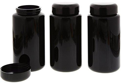 Mironglas Dose, Weithals Kosmetex Violett-Glas Vorratsdose m. Schraubverschluss, Miron, 3× 400 ml