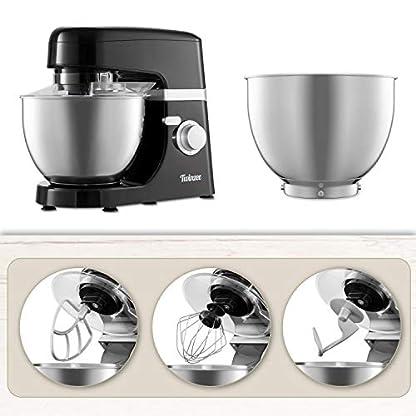 Multifunktions-Kchenmaschine-1000W-6-Rhrstufen-4-Zubehrteile-Inbegriffen-H-Rhrbesen-Schneebesen-Knethaken-Elektrische-Rhrmaschine-Rezepte