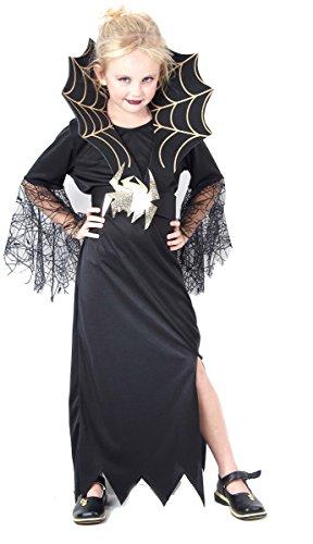 Spinnenköniginnen-Kostüm Halloween für Mädchen 140/152 (10-12 (Jahres Kostüme Mädchen Halloween 10)