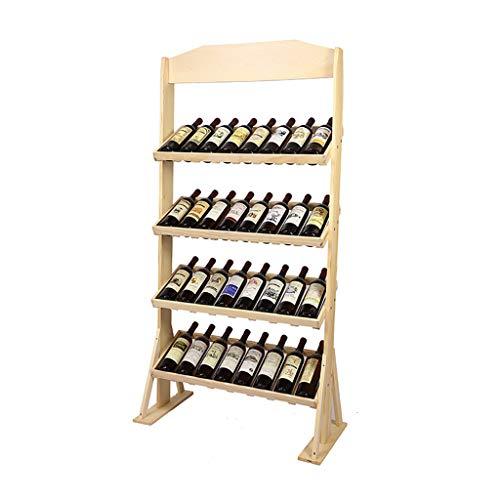 MXXJJ Weinregal zur Wandmontage Weinregal Weinregal Lagerregal Regalaufhängung Wand Weinflaschenregal Kelchrahmen Vollholz Weintrauben Weinkeller Weinbar Lagerung Regal Multi-Flaschen-Lagerung -
