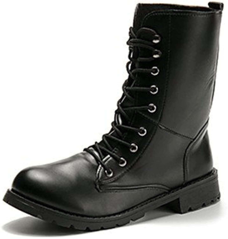 desy de mujer Zapatos PU (Poliuretano) Otoño Invierno ergonómico Botas bajo botas/Media Caña cordones para Casual... -