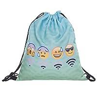 Creativee Boys Girls Teenager Drawstring Bag ,Full printing Drawstring Backpack School Shoulder Backpack Nylon Folding Bag for School Home Travel Sport Storage