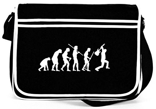 EVOLUTION HEAVY METAL, Music Electric Guitar Retro Messenger Bag Kuriertasche Umhängetasche Schwarz