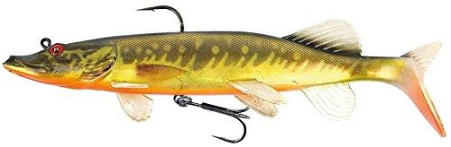 Fox Rage Replicant Realistic Pike - Swimbait Gummifisch zum Spinnfischen, Gummiköder zum Hechtangeln, Hechtköder zum Spinnangeln, Farbe:super hot pike;Länge / Gewicht:20cm - 100g (Lang Fox)