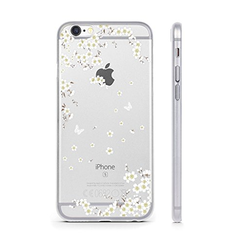 "Coque iPhone 6 / 6S , IJIA Ultra-mince Transparent Blanc Belle Ewha TPU Doux Silicone Bumper Case Cover Shell Housse Etui pour Apple iPhone 6 / 6S 4.7"" WM91"