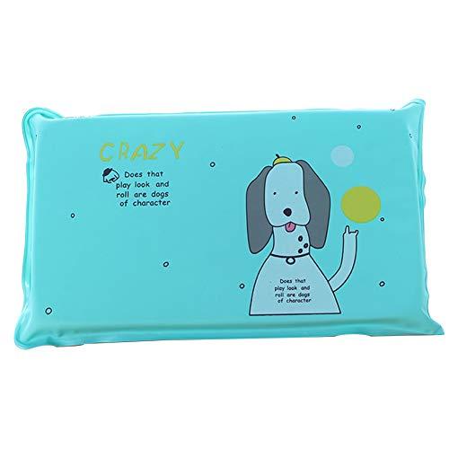 Kissen kalte Matte Gel aufblasbare Wasser gefüllte Kissen für Kinder Erwachsenen Sommer Kühler Kissen 1pc grünes Hunde Muster ()