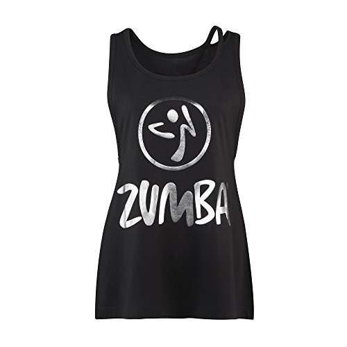 Zumba Fitness Damen WT Tank Love Or Loose Me Top, Sew Black, XXL (Zumba Fitness Cardio)