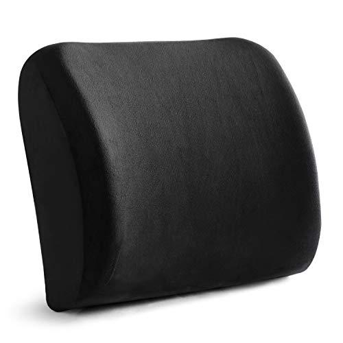 ENKEEO Lendenkissen Auto Rückenkissen Büro Rückenstütze Haltungskorrektur Sitzkissen aus Memory Foam mit Ergonomisches Design für Rückenschmerzen und Körperhaltung