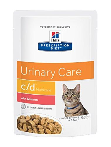Hill's Prescription Diet Feline C/D Troubles Urinaires Nourriture pour Chat Sachets 12x85g Poisson