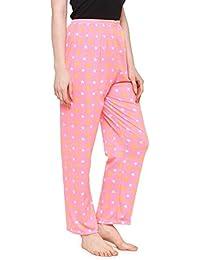 Krystle Women's Cotton Payjama (KRY-W-LPNK-CTN-PYJAMA, Light Pink, Free Size)
