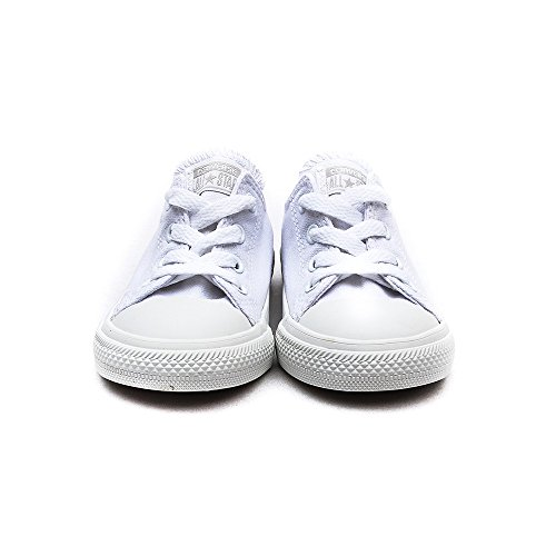 Converse Chuck Taylor All Star Infant White Monochrome Leather Trainers White Monochrome