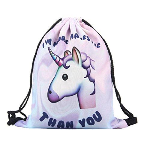 Einhorn Unicorn Pink mit Schultertasche Print 5Oxqw7Z