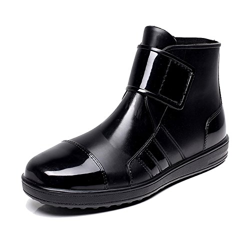 ukStore Damen Herren Gummistiefel Regenstiefel Kurzstiefel Kurzschaft Regen Boots,Schwarz,40 EU