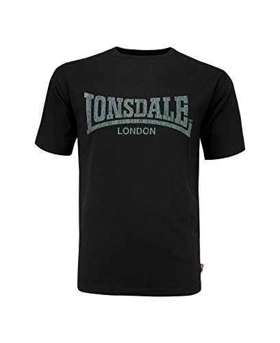 Lonsdale Herren Langarmshirt T-Shirt Trägerhemd Logo Kai schwarz (Schwarz) Large
