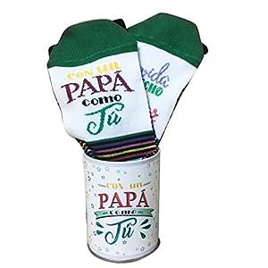 ARTEMODEL-la Vida... papá calcetín Bote, Color Verde (1)