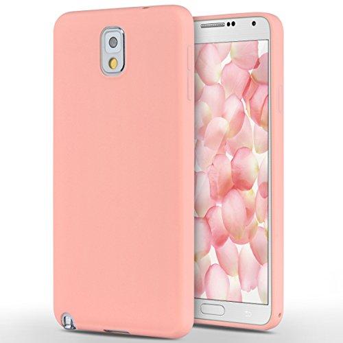 Preisvergleich Produktbild Samsung Galaxy Note 3 Hülle, Yokata Einfarbig Jelly Weich Silikon Gel Case Ultra Slim Matte Cover Anti-Fingerprint Schutzhülle Sehr Dünn Handyhülle - Rosa