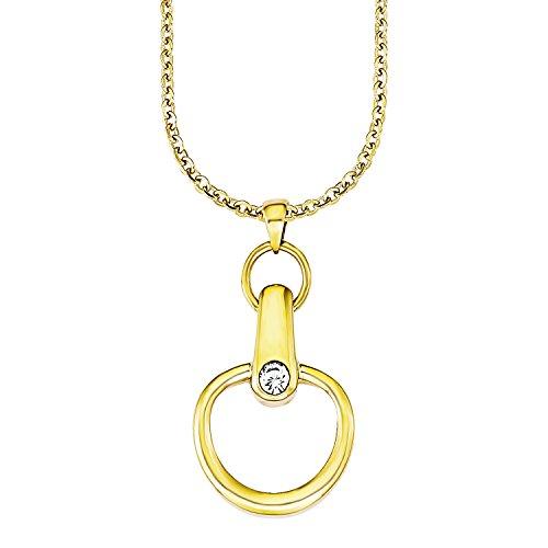 s.Oliver Damen-Kette mit Anhänger Swarovski Elements Edelstahl Kristall weiß 45 cm - 525060