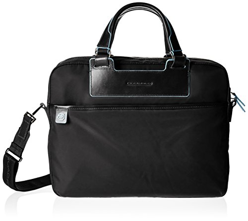 Piquadro Ca1903ce Handtasche, Erwachsene Unisex, Schwarz nero
