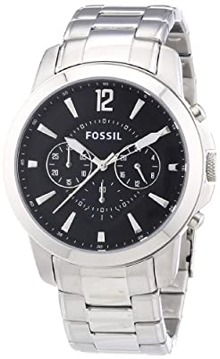 Fossil Men's Dress FS4532 - Reloj cronógrafo de cuarzo para hombre, correa de acero inoxidable color plateado