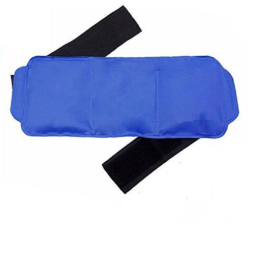 Kälte-therapie Pad-tasche (HHORD Wiederverwendbare Eisbeutel mit Strap - Soft & Flexible Gel Pack für Hot & Cold Therapie - Am besten als Heat Pad oder Cold Wrap für Rücken, Knie, Taille, ShoulderPhysiotherapy Bag (38*15CM) ,navy blue)