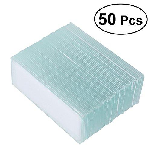 ukcoco Objektträger in Weiß des Abdeckung quadratisch Kulissen abdeckt das Glas festgelegten 50Stücke - Objektträger Abdeckungen Mit