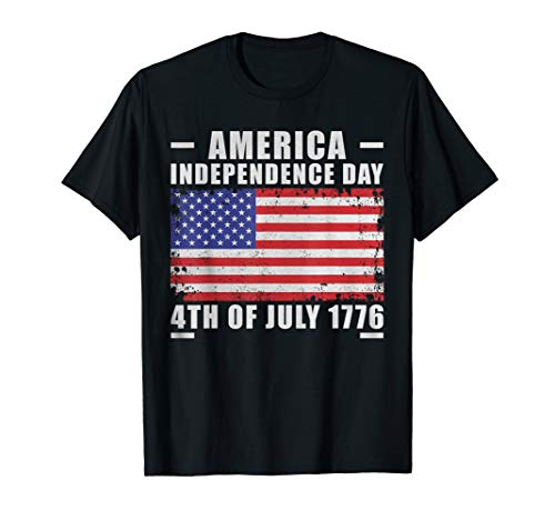 Amerika Flagge 4. Juli 1776 Independence Day Staaten Cool T-Shirt -