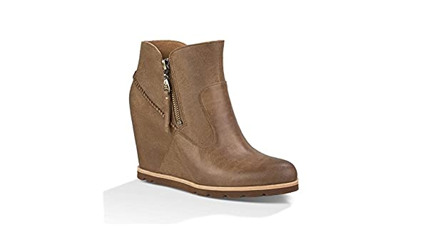 75ec6e84a32 UGG Ladies' Myrna Wedge Boot - Chestnut - 4: Amazon.co.uk: Shoes & Bags