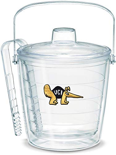 Tervis 1049672 UC Irvine Anteaters Ice Bucket with Emblem and Clear Lid 87oz Ice Bucket, Clear -