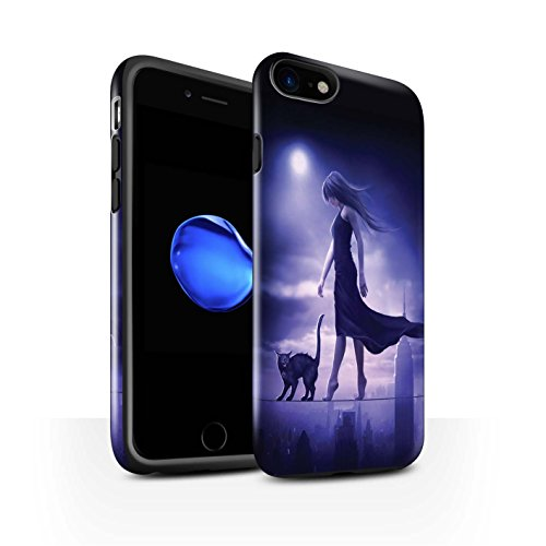 Officiel Elena Dudina Coque / Brillant Robuste Antichoc Etui pour Apple iPhone 8 / Orbe/Sorcellerie Design / Magie Noire Collection Somnambule/Insomnie