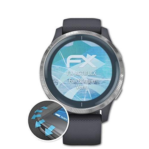atFoliX Protecteur d'écran Compatible avec Garmin Venu Film Protecteur, Ultra Clair et Flexible FX Film Protection d'écran (3X)