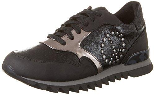 Tamaris Damen 23614 Sneakers Schwarz (BLACK STR.COMB 053)