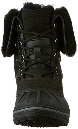 crocs Damen Allcast2luxbtw Schneestiefel Black Shimmer