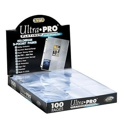 50 Ultra Pro 9-Pocket Platinum Pages for 3-Ring Collectors Album - Magic: The Gathering - (Pro 9 Pocket)