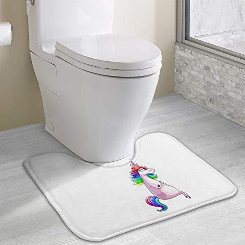 Hoklcvd Ich an Einem schlechten Tag Einhorn Rutschfeste Kontur Badematte für Toilette, saugfähiges Wasser Perfekt für Badezimmer. Kaufen Sie online Badematten zu den besten Preisen