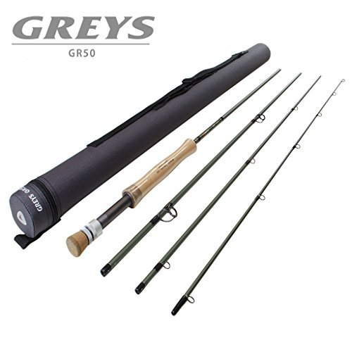 9ft 6in #7 Greys GR50 Fly Fishing Rod - 4 piece with tube by Grays