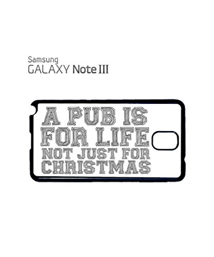 Pub is For Life Not Just For Christmas Funny Hipster Swag Mobile Phone Case Back Cover Coque Housse Etui Noir Blanc pour Samsung Galaxy S5 Mini White Blanc