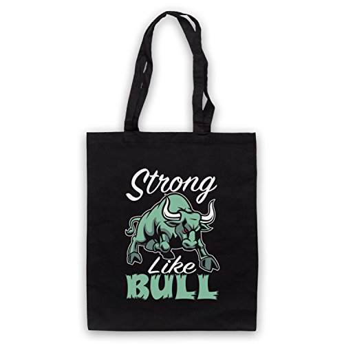 Strong Like Bull Gym Workout Slogan Umhangetaschen Schwarz