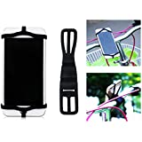 MOUTIK® Attache Elastique Vélo Fixation Silicone Cordon Lanière Bande Strap pour GPS MP3 Smartphone jusqu'à 5.5 Pouces du marché NOIR