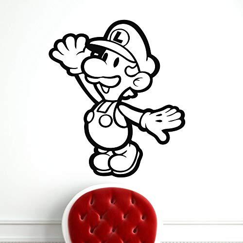 NEU mario Wandaufkleber Wandtattoo Wohnkultur Für Kinderzimmer Art Decals weiß XL 57cm X 65cm