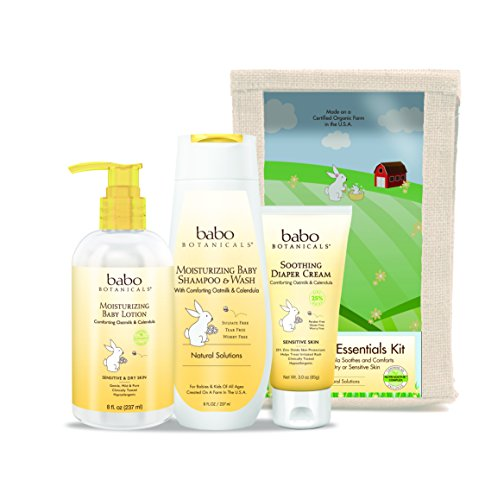 Babo Botanicals Newborn Essential 3 Piece Set - Best Baby Gift, Best For Baby Registry, Best Baby Shower Gift by Babo Botanicals