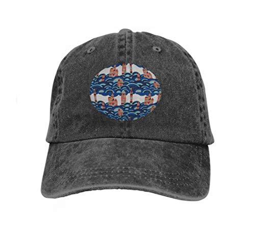 Xunulyn Adult Adjustable Structublack Baseball Cowboy Hat mid Century modern Minimalistic Village Pantone s Color Year Black