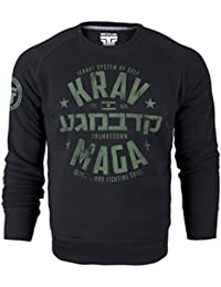 Krav Maga Crewneck Sweatshirt. Israel System Of Self Defense And Fighting Skills. Thumbsdown Last Fight. Martial Arts Sweat-shirt. Fightwear. Training. Casual. Gym. MMA Hoodie