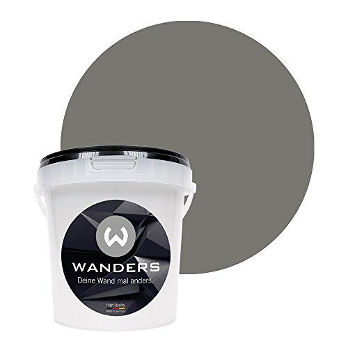 Wanders24 Tafelfarbe (1Liter, Beton-Grau) matte Wandfarbe in 20 Farbtönen erhältlich, individuelle Gestaltung für Zuhause, Farbe made in Germany
