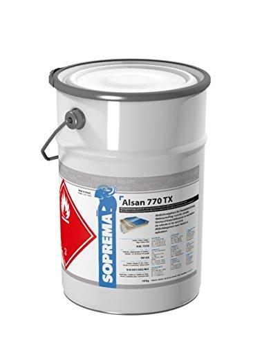 ALSAN PMMA Flüssigkunststoff - 770 TX 10,0 kg/Gebinde - RAL 7035 lichtgrau - 2-komponentig inkl. Katalysator   schnellhärtendes Abdichtungsharz für Details und Anschlüsse an aufgehenden Bauteilen