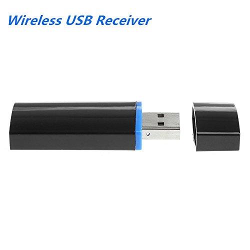 Wireless USB Receiver Empfänger Beweglicher 3.5mm Drahtloser Bluetooth USB AUX Musik Audioempfänger Adapter 4.1 + EDR Verwendbar für Android für iOS