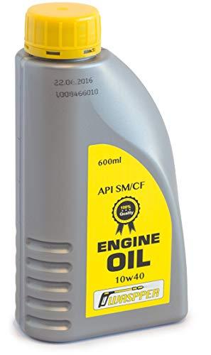 ✦ 10W-40 Teilsynthetisches Motorenöl ✦ 600 ml Schwerlast-10W40 Motoröl Geeignet für Haus, Garten & DIY-Motor angetriebene Werkzeuge