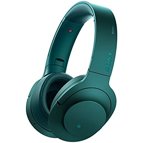 Sony MDR100ABNL - Auriculares on-ear (con audio de alta resolución, Wireless, Bluetooth, NFC y LDAC), color azul