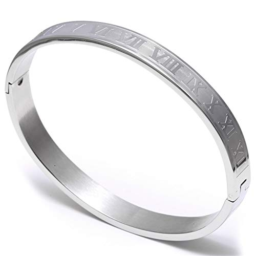 te Freundschaftsarmbänder Stainless Steel Bangle Titanium Adjustable Opening Cuff Charm Jewelry Pulseras Hombre Luxury Jewelry New style2 Sliver style2 180mm ()