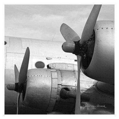 Lámina 'Vintage Flight I', de Janet Van Arsdale, Tamaño: 33 x 33 cm