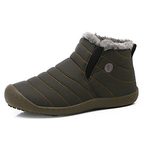 JACKSHIBO Uomini Donne Inverno Caldo Outdoor Stivali Con Pelo Morbido a Neve Caviglia Boot